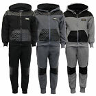 Boys Tracksuit Kids Hooded Top PU PVC Quilted Sweatshirt Bottoms Jogging Summer