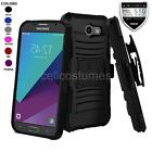 REFINED ARMOR PHONE CASE & HOLSTER FOR SAMSUNG GALAXY J3 PRIME (2017) + GUARD