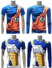 Dragon Ball Z Compression Workout T-shirt Cosplay Jersey Costume Battle Armor