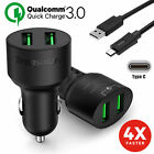 tronsmart s802 - Qualcomm Certified 6V/3A Quick Charge 3.0 Tronsmart USB Car Charger+Type-C Cable