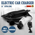 EV Electric Car Charger Vehicle Charging Cable Cord 110V-220V 16A EVSE Level 2