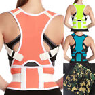 US Unisex Elastic Posture Corrector Correction Clavicle Support Back Brace Belt