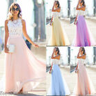 US 2017 Fashion Women's Lady Gorgeous Matching Party Wedding Princess Long Dress