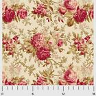 SAVANNAH CLASSIC ROSE MAIN CREAM P&B QUILT SEWING FABRIC *Free Oz Post