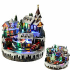 Pre-Lit LED Musical Animated Christmas Village Scene Rotating Train Decoration