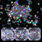 BORN PRETTY Holographic Nail Sequins Heart Star Rhombus Round Flakes Paillette