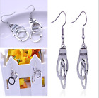 1 Pair Alloy Handcuffs Charms Dangle Earrings Creative Punk Style Jewelry