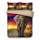 Elephant Doona Quilt Cover Set Single Queen King Size Bed Duvet Cover Set Animal