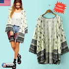 Women Floral Loose Shawl Kimono Cardigan Boho Chiffon Tops Coat Jacket Blouse