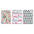 A6 Hardback Case Bound Lined Notebook 80gsm 3 Designs Flamingo Butterfly Scotty