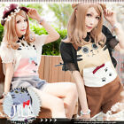 lolita cartoon fantasy prince charming cat paw prints romper shorts【JJ0024】