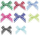 "100 32mm 1.2"" Bows 7mm Double Sided Gingham Ribbon Eco Quality Craft Gift Party"