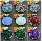 50pcs 8MM Ball Loose Round Glass crystal Beads for Fit Bracelets Necklaces
