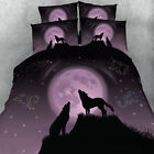 Wolf Quilt/Duvet/Doona Cover Set Single/Queen/Super King Size Pillowcases Animal