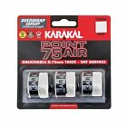 Karakal Point 75 Air Overwrap Non Slip PU Tennis Racket Grip - Pack of 3