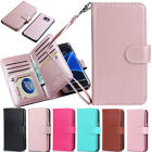 PU Leather Wallet 9 Card Slot Flip Case Cover for Samsung Galaxy S6 Edge Plus