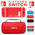 For Nintendo Switch 5in1 Travel Carrying Case Bag+Clear Screen Protector Film
