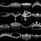 CH Bridal Wedding Crystal Flower Tiara Crown Pearl Rhinestone Hair Band Headband