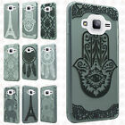 For Samsung Galaxy Sky Etched 3D TPU Gel Hard Skin Case Cover + Screen Guard