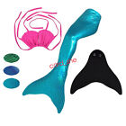 mermaid tails girls tail for kids swimmable with monofin for Child swimming tail