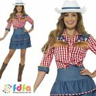 RODEO DOLL COWGIRL COWBOY + HAT WEST UK 8-18 Womens Ladies Fancy Dress Costume