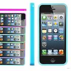 BUMPER CASE COVER SILICONE APPLE IPHONE 5 5G- VARIOUS COLOURS