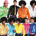 Adult Mens Disco Ruffle Shirts Frilly 1970s 70s Fancy Dress Costume