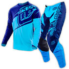 NEW TROY LEE DESIGNS TLD GP FLEXION MX GEAR COMBO NAVY/CYAN ALL SIZES