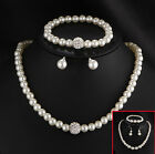 CH Fashion Real Natural Freshwater Pearl Necklace Bracelet Earring Jewelry Set A