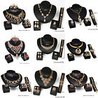 Women Fashion Jewelry Sets 18K Necklace Earrings Bracelet Ring Pendant Choker