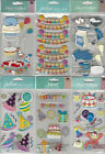 U CHOOSE  Assorted Jolee's BIRTHDAY LONG 3D Stickers party hat clown balloons