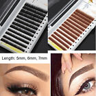 0.10mm J Curl Individual Beauty False Mink Eyebrow Extensions Permanent Eye Brow