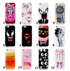 Cute Cartoon Illustration Slim Soft TPU Rubber Gel Back Sheild Cover For Phones
