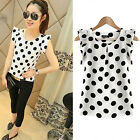 C Women's Casual Chiffon Blouse Short Sleeve Shirt T-shirt Summer Tops Fashion