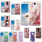 For LG Aristo MS210 LV3 Liquid Glitter Quicksand HARD Case Phone Cover