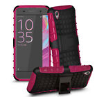 Fully Protection Hard Case Stand Cover For Sony Xperia X + Protector Screen