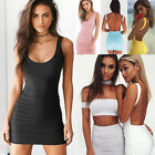 Women Ladies Backless Strappy Dress Slim Bodycon Evening Party Cocktail Dresses