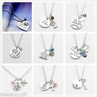 HX Womens sliver letters necklace so many having to be happy lettering pendant