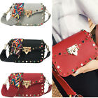 Women Girls Crossbody Bags Color Rivet Design Shoulder Bags Shoulder Strap Bag
