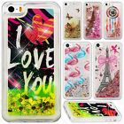 For iPhone 5 5S SE Liquid Glitter Quicksand Hard Case Phone Cover Accessory