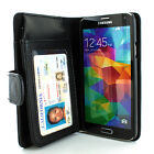 For Samsung Galaxy S5 Flip Wallet PU Leather ID Holder Card Slot Case Cover