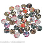20PCs Mix Christmas Round Glass Flatback Scraphooking Card DIY Craft GW