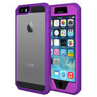 AMZER FULL BODY HYBRID HARD CASE COVER + SCREEN PROTECTOR FOR IPHONE SE