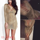 US Stock Womens Deep V-Neck Bandage Bodycon Club Cocktail Party Short Mini Dress