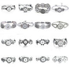 Silver Snap Button Elastic Bracelet Diy Snap Jewelry Fit 18mm Ginger Snaps Charm