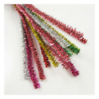 TINSEL PIPE CLEANERS FOR CRAFTS 30cm CHENILLE STEMS ASSORTED ARTS CHILDREN FUN