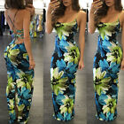 NEW Summer Womens Bodycon Spaghetti Sundress Straps Backless Lace-up long Dress