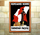 Homeward Bound Vintage Sea/Steamship Travel Poster [6 sizes, matte+glossy avail]