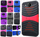 For ZTE Majesty Pro Z799VL Hard Gel Rubber KICKSTAND Case Phone Cover Accessory