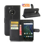 9 Colors Stand Leather Case Flip Wallet Cover Pouch For Motorola Moto G5 Plus